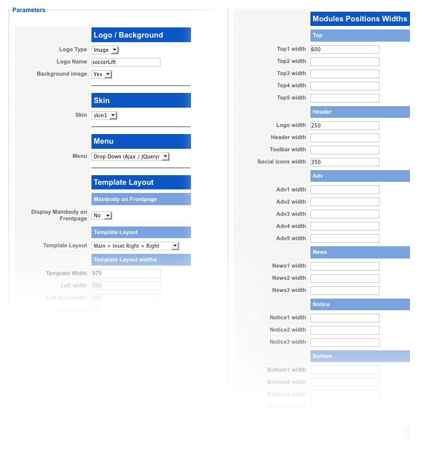 template parameters