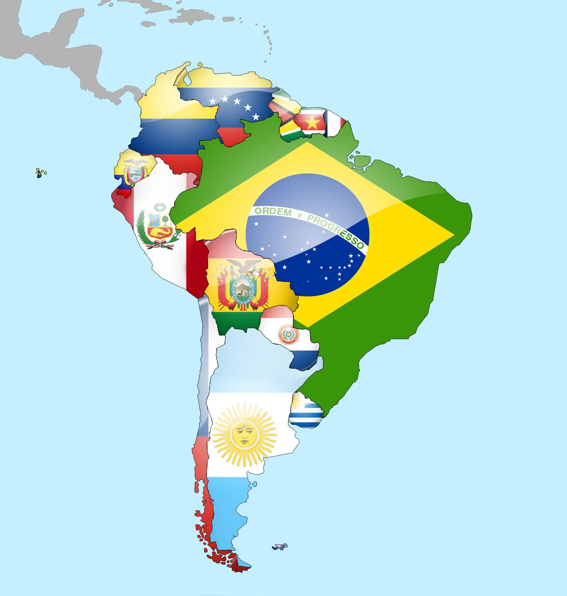 South_America_Flag_Map_by_lg_studio